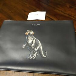 Coach X Star Wars Tauntaun Leather Large Pouch 88366 New