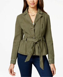 American Rag Button Peplum Park With Belt Army Green Comfortable Xs, S, M, L, Xl