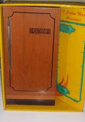 Vintage 1960's Wolverine Toy Tin Refrigerator In Original Box Never Opened Rare