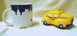 Starbucks☕️new York City 201216oz Relief Mug/with Nyc Taxi Bank💰discontinued