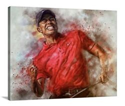 Tiger Woods Canvas Wall Art 16x20 Golf Masters More Sizes Avail Painting Art