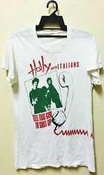 Vintage 70s 1979 Holly And The Italians Punk New Wave Tour Concert Promo T-shirt