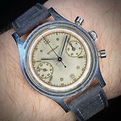 1950s Wittnauer Chronograph Watch Stainless Steel Venus 188 Serviced