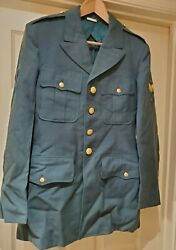 Vintage 1958 Captain Army Green Dress Military 35l Wool Jacket And Hat Vietnam War