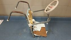 1950s Dennis Mitchell Foldable Hanging Child Car Seat W/ Steering Wheel