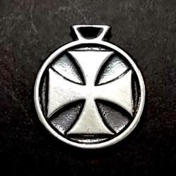 Travis Walker Iron Cross Novelty Dog Tag Sterling Silver Top Only