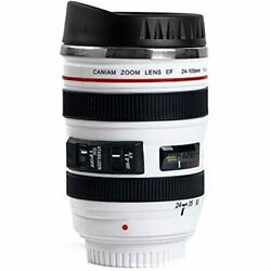 Unitamaze Coffee Mug Camera Lens Travel Thermos Stainless Steel Insulated Cup