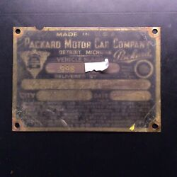 1930and039s Packard Automobile Vin Plate Original