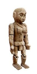 Antique Unique Handcrafted Traditional Figure Puppet Wooden Hand Carved Indian