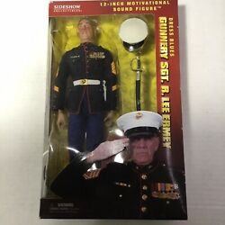 New Gunnery Sgt R. Lee Ermey 12andrdquo Dress Blues Talking Figure Collector Edition