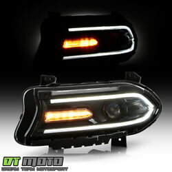 2015-2019 Dodge Charger Halogen Led Drl Projector Headlight - Driver, W/o Logo