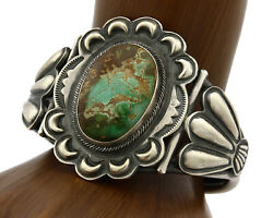 Navajo Bracelet .925 Silver Royston Turquoise Signed Paul J Begay C.80and039s