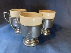 Kirk Stieffpewter X Buick Set Of 3 Tankard Mug And Insert Collectible Cups C782