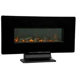 36 Electric Fireplace Free Standing Wall Mounted Fireplace Heater 750 W / 1500