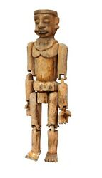Antique Traditional Figure Puppet Wooden Carved Unique Collectible Indian Decor