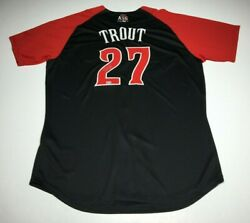 Mike Trout Signed Authentic 2015 All-star Game Jersey Mvp Mlb Vs304675