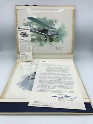 United Airlines Nixon Galloway Set Of 9 Prints Aviation History Lithography