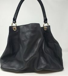 Mark And Graham Black Pebbled Leather Build Your Bag With Chain And Tubular Straps
