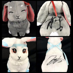 2pcs Signed The Untamed Plush Rabbit Toy Xiao Zhan Autographed Wang Yibo Dolls