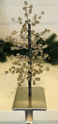 Pottery Barn Faceted Glass Mirror Tree Stocking Holder New Christmas Decor