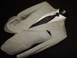 Lanvin Paris Made In Italy Menand039s Wool And Linen Jacket Coat Size 38 Short