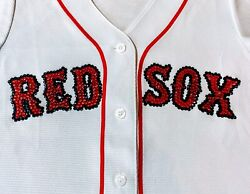 Boston Red Sox Crystal Embellished Women's Majestic Jersey