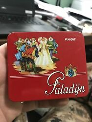 Rare Unusual Tobacco Tin Page Paladÿn Made In Holland Vintage Cigarette Case