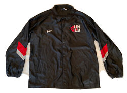 Vtg Nike Team Issue 90s Warm Up Jacket Unlv Rebels Snap Button 3xl Rare Usa Made