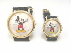 Seiko His And Hers Mickey Mouse Vintage Rare Watches 7n82-6a89 7n01-8a19 Don't Run