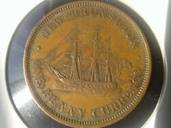 World Old Coins 1854 One Penny New Brunswick Collectibles