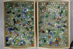 More Than 6lbs Over 600 Of Vintage Marbles Estate Find-multiple Generations