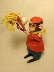 Vintage Schuco Wind Up Toy Monkey With Mouse Made In Germany Works