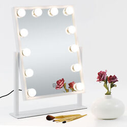 Lighted Cosmetic Vanity Mirror Hollywood Style Makeup w Dimmable Touch Control