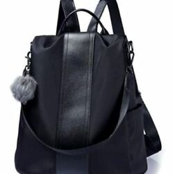 Large Soft Durable and Stylish Backpack in Black $20.95