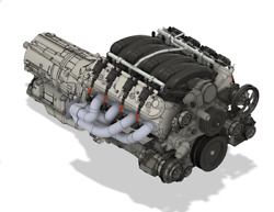 Ls3 Ls1 Model Engine Resin 3d Printed 132-18 Scale