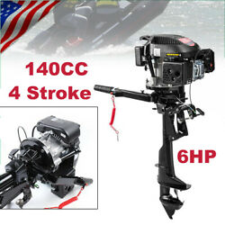 6.0hp 4stroke Gasoline Petrol Outboard Motor Fishing Boat Engine W/air Cooling 1