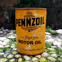 Old Vintage Pennzoil Oil Can Empty
