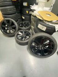 Factory Oem Bentley Continental Flying Spur 21 Wheels And Tires Gloss Black Set