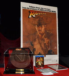 Harrison Ford Signed Indiana Jones Hat Raiders Of Lost Ark Poster Dvd Coa Case