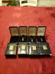 M.i. Hummel Club 1990 Sterling Silver 4x Pendents W/ Necklaces In Original Boxes