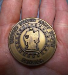 United States Army South Panama Challenge Coin Metal Detecting Find