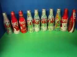 Coca Cola Aluminum Bottle Collection Sold As A Lot Some Hard To Find Ones