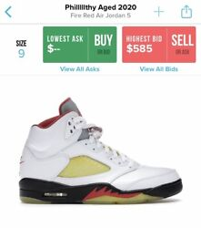 """Air Jordan 5s Pilllllthy """"aged"""" Fire Red Must Read 1 Of 1 🔥🔥 100 Authentic"""