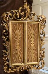 Vintage Gold Syroco Sarah Coventry Hanging Jewelry Cabinet - Rare - Euc