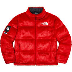 Supreme Fw20 The Faux Fur Nuptse Red Size Medium In Hand