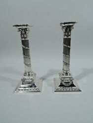 Mauser Candlesticks - 5871 - Antique Neoclassical - American Sterling Silver