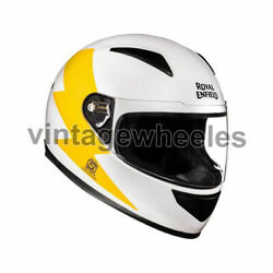 For - Royal Enfield Street Prime Bolt Helmet - White And Yellow