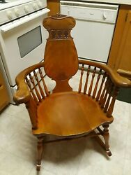 Sale Was 795 Antique 19th Century Maple Rare Windsor Spindle Rocking Chair