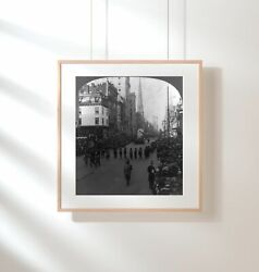 Photo New York City,nyc,approved Order Of Redmen,street Parade,indian Period,19