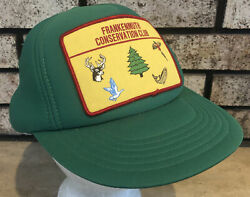 Frankenmuth Conservation Club Snapback Hat Full Foam Cap W Sewn On Patch Green